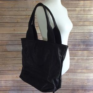 Handbags - Genuine Italian Black Leather Tote Bag